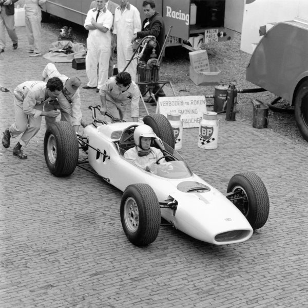 1964 German Grand PrixNurburgring, Germany. 31st July - 02nd AugustHonda take part in their first Grand Prix.World Copyright - LAT Photographic ref: B&W Negative Image no. 25922