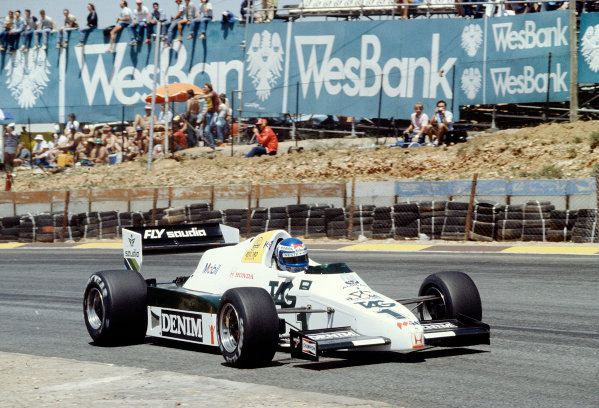 1983 South African Grand Prix.Kyalami, South Africa.13-15 October 1983.Keke Rosberg (Williams FW09 Honda) 5th position.Ref-83 SA 31.World Copyright - LAT Photographic