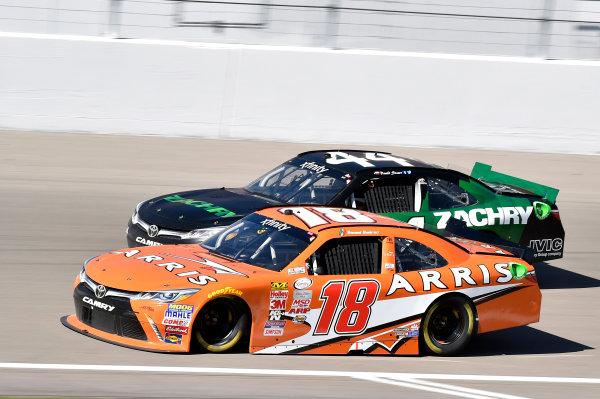 6-7 March 2015, Las Vegas, Nevada USA Daniel Suarez, Arris Toyota Camry and David Starr ? 2015, Nigel Kinrade LAT Photo USA