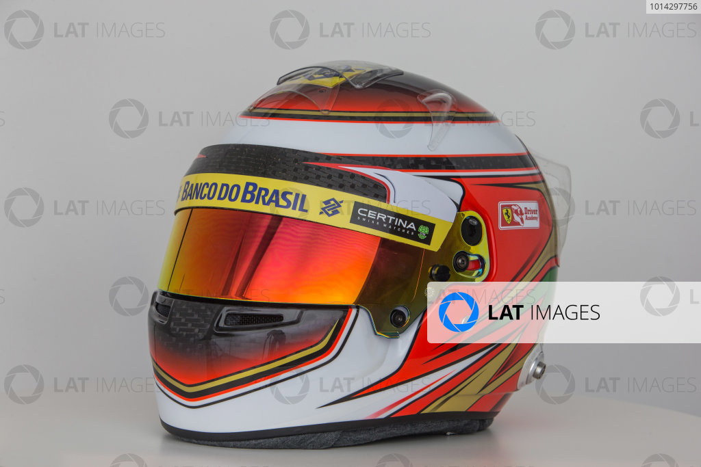Hinwil, Switzerland. Thursday 29 January 2015. Helmet of Raffaele Marciello, Test and Reserve Driver, Sauber.  World Copyright: Sauber F1 Team (Copyright Free FOR EDITORIAL USE ONLY) ref: Digital Image 2015_SAUBER_HELMET_17