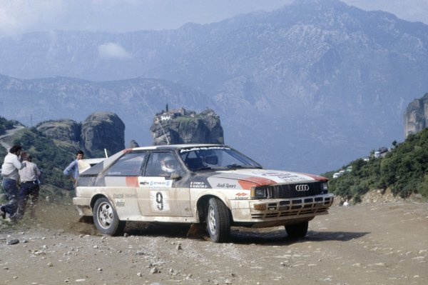 1982 World Rally Championship.Acropolis Rally, Greece. 26-29 June 1982.Michele Mouton/Fabrizia Pons (Audi Quattro), 1st position.World Copyright: LAT PhotographicRef: 35mm transparency 82RALLY05