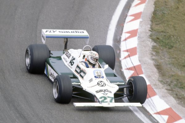 1980 Dutch Grand Prix.Zandvoort, Holland. 29-31 August 1980.Alan Jones (Williams FW07B-Ford Cosworth), 11th position.World Copyright: LAT PhotographicRef: 35mm transparency 80HOL01