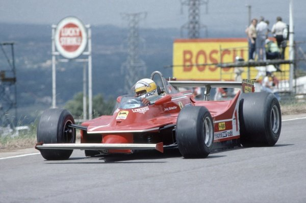 1980 South African Grand Prix.Kyalami, South Africa. 28 February-1 March 1980.Jody Scheckter (Ferrari 312T5), retired.World Copyright: LAT PhotographicRef: 35mm transparency 80SA24