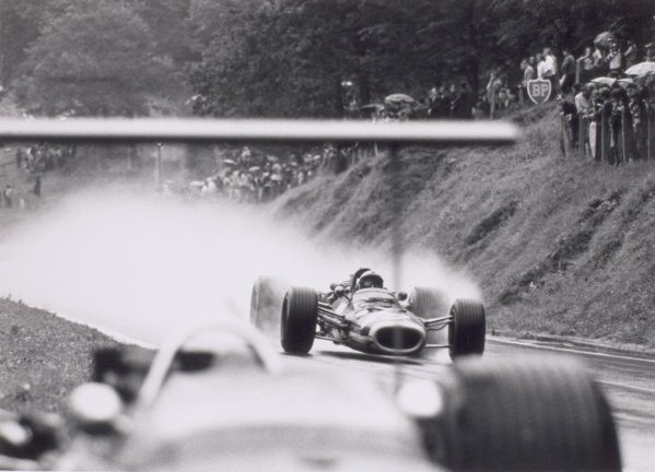 1968 French Grand Prix.Rouen-les-Essarts, France. 7 July 1968.Pedro Rodriguez, BRM P133, 12th position, action.World Copyright: LAT PhotographicRef: 2051 #6