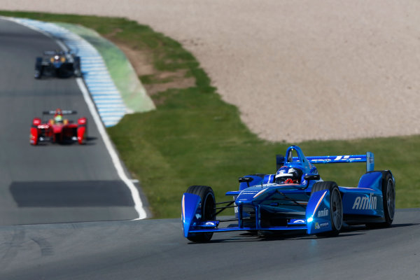 FIA Formula E Test Day, Donington Park, UK.  9th - 10th July 2014.  Fabio Leimer, Amlin Aguri. Photo: Sam Bloxham/FIA Formula E ref: Digital Image _SBL1322