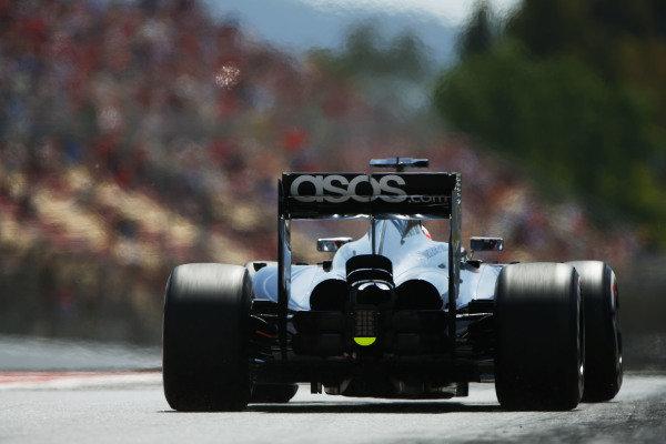 Circuit de Catalunya, Barcelona, Spain. Saturday 10 May 2014. Jenson Button, McLaren MP4-29 Mercedes. World Copyright: Andy Hone/LAT Photographic. ref: Digital Image _ONY9965