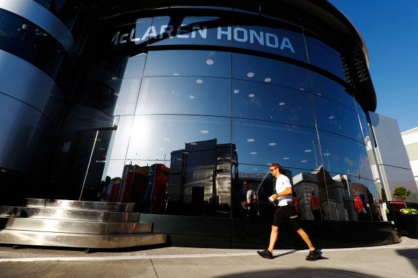 Hungaroring, Budapest, Hungary. Friday 22 July 2016. Jenson Button, McLaren. World Copyright: Steven Tee/LAT Photographic ref: Digital Image _H7I2297