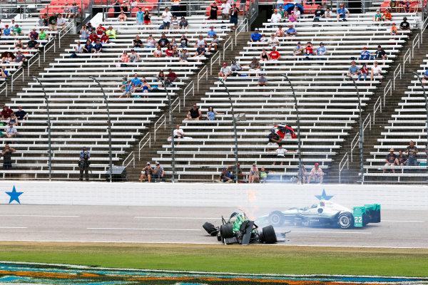 10-11 June, 2016, Fort Worth, Texas USA Josef Newgarden crash ?2016, Sam Cobb LAT Photo USA