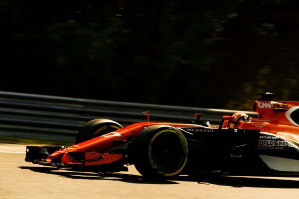 Hungaroring, Budapest, Hungary.  Wednesday 02 August 2017. Lando Norris, McLaren MCL32 Honda. World Copyright: Joe Portlock/LAT Images  ref: Digital Image _R3I7792