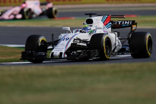 Silverstone, Northamptonshire, UK.  Friday 14 July 2017. Felipe Massa, Williams FW40 Mercedes. World Copyright: Zak Mauger/LAT Images  ref: Digital Image _56I8309
