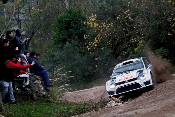 Sebastien Ogier (FRA) / Julien Ingrassia (FRA), Volkswagen Polo R WRC.. FIA World Rally Championship, Rd5, Rally Argentina, Preparations and Shakedown, Cordoba-Villa Carlos Paz, Argentina, 8 May 2014.