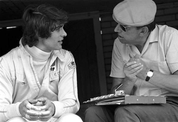 Francois Cevert(FRA) March 701, made his Grand Prix debut replacing Johnny Servoz-Gavin at Tyrrell, seen her with Ken Tyrrell(GBR), right Dutch GP, Zandvoort, 21 June 1970