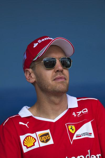 Sebastian Vettel (GER) Ferrari at Formula One World Championship, Rd1, Australian Grand Prix, Qualifying, Albert Park, Melbourne, Australia, Saturday 25 March 2017.