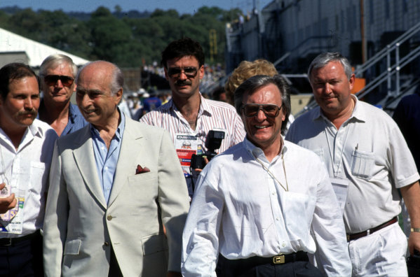 Formula 1 World Championship.Juan Manuel Fangio and Bernie Ecclestone. Ref-F1A 05.World - LAT Photographic