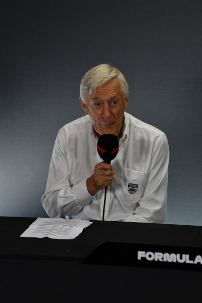 John Grant, Chairman of the BRDC in the Press Conference