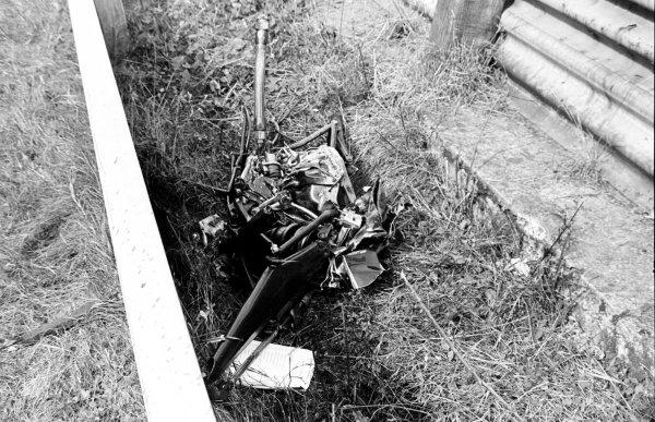 1978 Italian Grand Prix.Monza, Italy.8-10 September 1978.Wreckage from Ronnie Peterson's Lotus 78-Ford after the accident which claimed his life.World Copyright - LAT Photographic