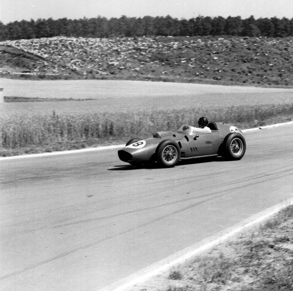 1959 French Grand Prix.Reims, France.3-5 July 1959.Dan Gurney (Ferrari Dino 246).Ref-4412.World Copyright - LAT Photographic