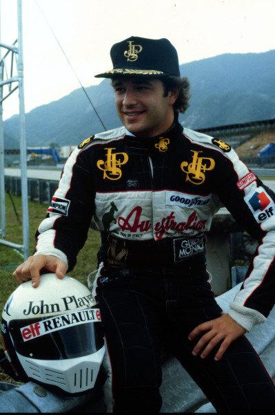 1984 Brazilian Grand Prix.Jacarepagua, Rio de Janeiro, Brazil.23-25 March 1984.Elio de Angelis (Team Lotus).World Copyright - LAT Photographic