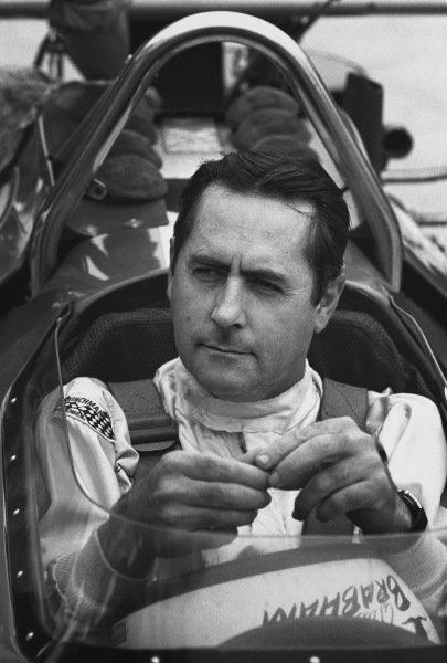 1970 German Grand Prix. Hockenheim, Germany. 31st July - 2nd August 1970. Jack Brabham (Brabham BT33-Ford), retired, portrait.  World Copyright: LAT Photographic. Ref: 3235 - 31A.