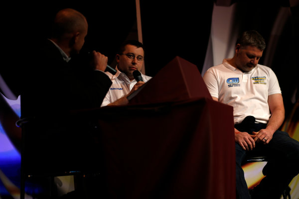 Autosport International Show NEC, Birmingham.  Sunday 12 January 2014. Richard Poulter talks. World Copyright:Sam Bloxham/LAT Photographic ref: Digital Image _SBL2674