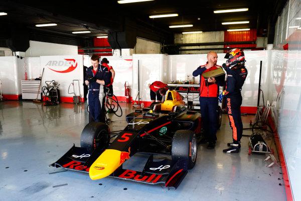 2016 GP3 Series Test 2. Circuit de Catalunya, Barcelona, Spain. Thursday 20 April 2017. Niko Kari (FIN, Arden International)  Photo: Zak Mauger/GP3 Series Media Service. ref: Digital Image _56I5659