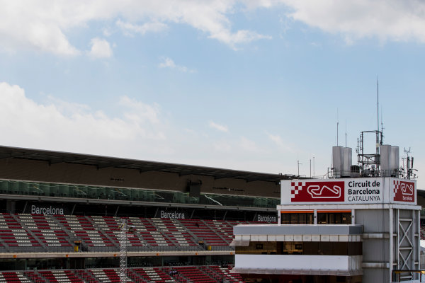 2017 GP3 Series Round 1.  Circuit de Catalunya, Barcelona, Spain. Thursday 11 May 2017. A view of a grandstand. Photo: Zak Mauger/GP3 Series Media Service. ref: Digital Image _54I6837
