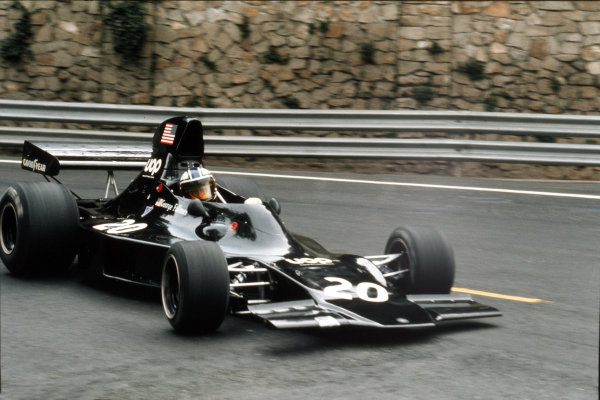Montjuich Park, Barcelona, Spain.27-29 April 1973.George Follmer (Shadow DN1A Ford) 3rd position.Ref-35mm 73 ESP 32.World Copyright - LAT Photographic