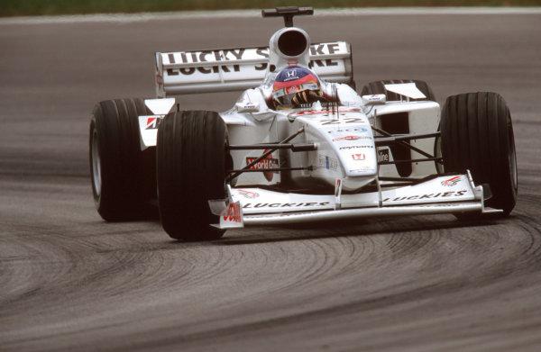 Sepang, Kuala Lumpur, Malaysia.20-22 October 2000.Jacques Villeneuve (B.A R. 002 Honda) 5th position.World Copyright - Tee/LAT Photographicref: 35mm A43