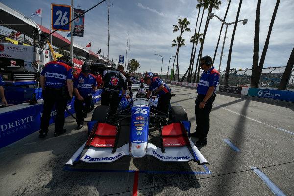 2017 Verizon IndyCar Series Toyota Grand Prix of Long Beach Streets of Long Beach, CA USA Friday 7 April 2017 Takuma Sato World Copyright: Scott R LePage/LAT Images ref: Digital Image lepage-170407-LB-0754