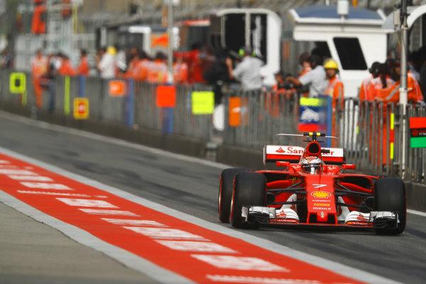 Shanghai International Circuit, Shanghai, China.  Saturday 08 April 2017. Kimi Raikkonen, Ferrari SF70H. World Copyright: Steven Tee/LAT Images ref: Digital Image _O3I4722