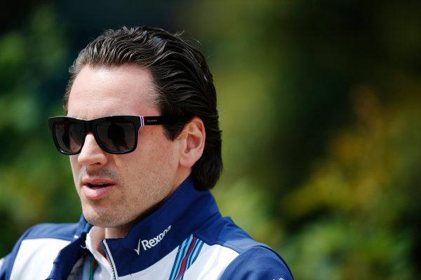 Shanghai International Circuit, Shanghai, China. Thursday 09 April 2015. Adrian Sutil, Reserve Driver, Williams F1. World Copyright: Glenn Dunbar/LAT Photographic. ref: Digital Image _W2Q0406