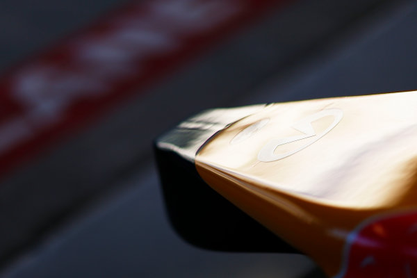 Sochi Autodrom, Sochi, Russia. Thursday 9 October 2014. The nose of the Red Bull Racing RB10 Renault. World Copyright: Andy Hone/LAT Photographic. ref: Digital Image _ONZ3933