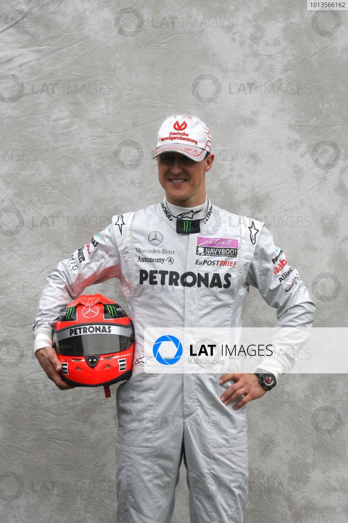 Albert Park, Melbourne, Australia24th March 2011.Michael Schumacher, Mercedes GP W02. Portrait. World Copyright: LAT Photographicref: Digital Image1_LC2573