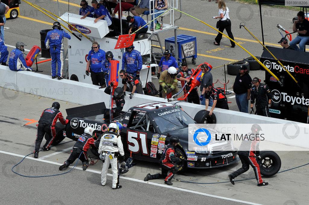 13-14 April, 2013, Rockingham, North Carolina USA Erik Jones pit stop ©2013, Scott R LePage LAT Photo USA