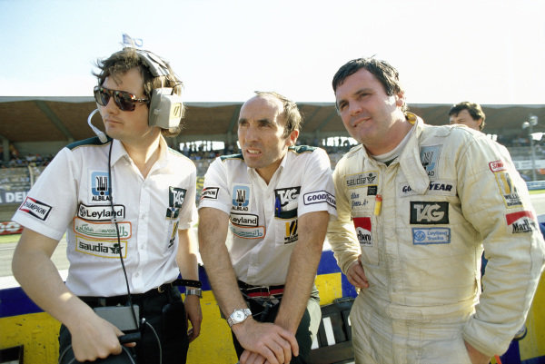 Frank Dernie, Frank Williams and Alan Jones.