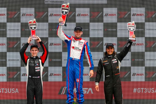 5-7 August 2016, Elkhart Lake, Wisconsin USA IMSA GT3 Cup USA Race 2, Platinum Podium ?2016, Jake Galstad LAT Photo USA
