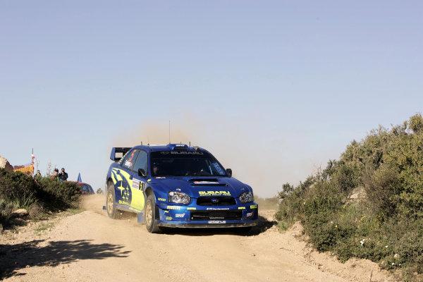 2005 World Rally ChampionshipRallye d'Italia, Sardinia, Italy. 29th April - 1st May 2005Petter Solberg (Subaru Impreza WRC 05), action.World Copyright: McKlein/LAT Photographicref: Digital Image Only