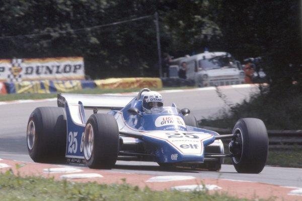 1980 British Grand Prix.Brands Hatch, Great Britain. 11-13 July 1980.Didier Pironi (Ligier JS11/15-Ford Cosworth), retired.World Copyright: LAT PhotographicRef: 35mm transparency 80GB13