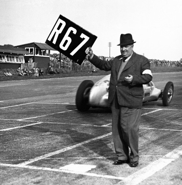 1937 Donington Grand Prix. Donington Park, Derbyshire, Great Britain. 2 October 1937. Alfred Neubauer, Mercedes-Benz Team Manager. Ref: C/2987. World Copyright: LAT Photographic