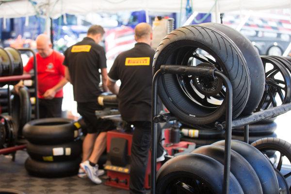 2017 Superbike World Championship - Round 8 Laguna Seca, USA. Friday 7 July 2017 Pirelli tyres World Copyright: Gold and Goose/LAT Images ref: Digital Image 682931