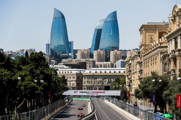 2017 FIA Formula 2 Round 4. Baku City Circuit, Baku, Azerbaijan. Friday 23 June 2017. Louis Deletraz (SUI, Racing Engineering), Nobuharu Matsushita (JPN, ART Grand Prix), Ralph Boschung (SUI, Campos Racing)  Photo: Zak Mauger/FIA Formula 2. ref: Digital Image _56I6660