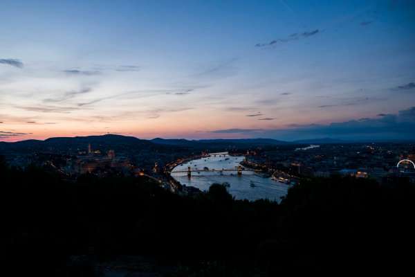 Hungaroring, Budapest, Hungary. Monday 5 June 2017. A view of the city at dusk. World Copyright: Zak Mauger/LAT Images ref: Digital Image _56I0564