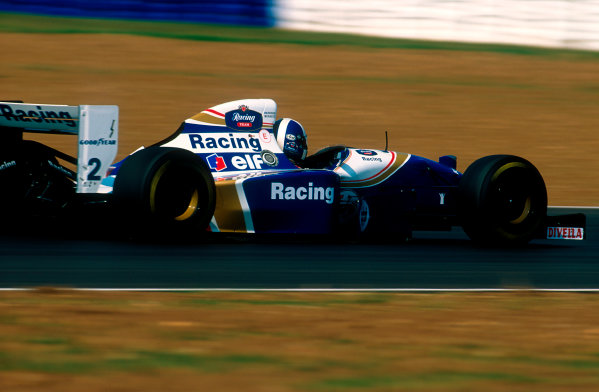 1994 British Grand Prix.Silverstone, England.8-10 July 1994.David Coulthard (Williams FW16 Renault) 5th position.Ref-94 GB 08.World Copyright - LAT Photographic