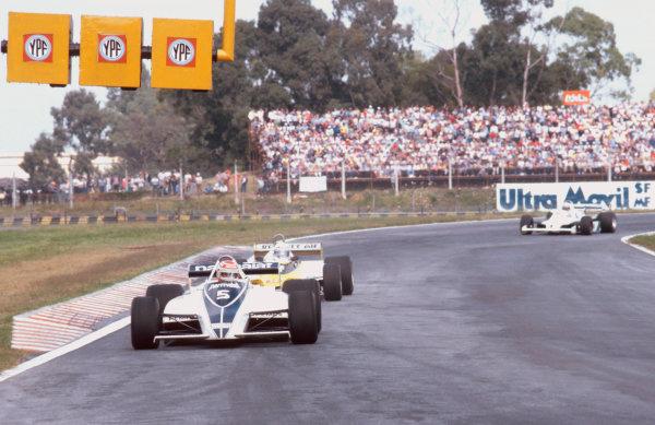 1981 Argentinian Grand Prix.Buenos Aires, Argentina.10-12 April 1981.Nelson Piquet (Brabham BT49C Ford) 1st position.Ref-81ARG 04.World Copyright - LAT Photographic
