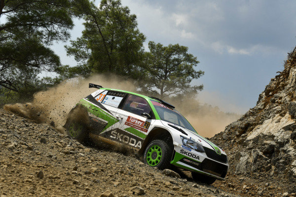 Jan Kopecky, Skoda Motorsport, Skoda Fabia R5, fights with the rocky roads of Rally Turkey