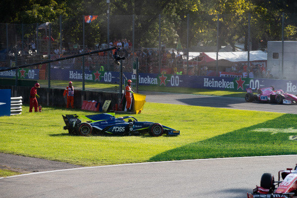 AUTODROMO NAZIONALE MONZA, ITALY - SEPTEMBER 07: Louis Deletraz (CHE, CARLIN) during the Monza at Autodromo Nazionale Monza on September 07, 2019 in Autodromo Nazionale Monza, Italy. (Photo by Joe Portlock / LAT Images / FIA F2 Championship)