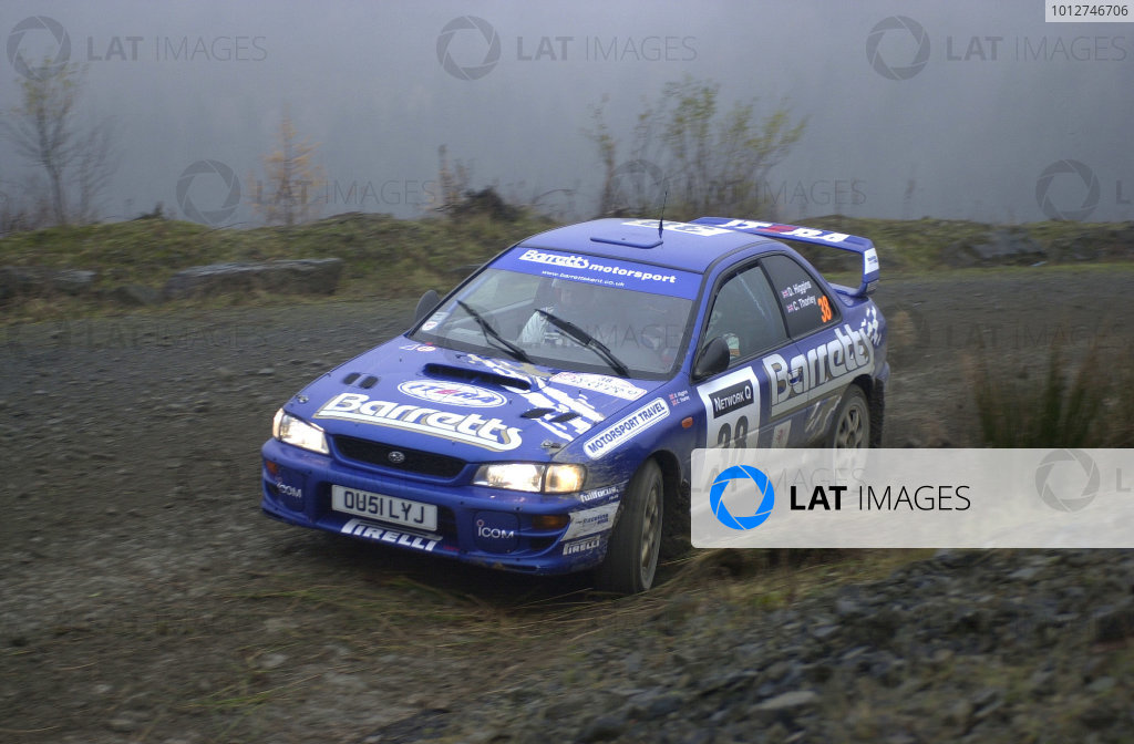 2001 FIA World Rally Championship.Rally of Great Britain. Cardiff, Wales. November 22-25, 2001.David Higgins winner of Group N (11th place overall).Photo: Ralph Hardwick/LAT