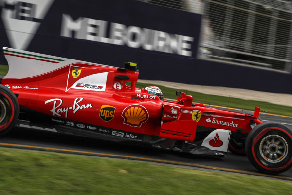Kimi Raikkonen (FIN) Ferrari SF70-H at Formula One World Championship, Rd1, Australian Grand Prix, Practice, Albert Park, Melbourne, Australia, Friday 24 March 2017.
