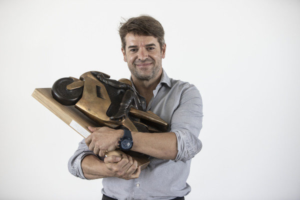 Carlos Checa with his 2011 World Championship trophy.
