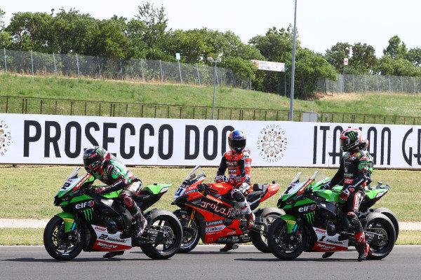 Alex Lowes, Kawasaki Racing Team WorldSBK, Michael Ruben Rinaldi, Aruba.It Racing - Ducati, Jonathan Rea, Kawasaki Racing Team WorldSBK.